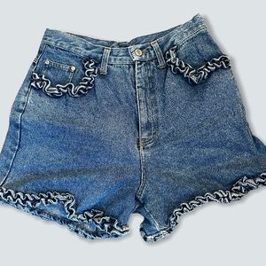Denim Jean High Waisted Vintage Shorts Summer